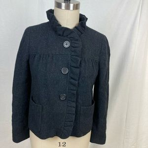 Vintage J Crew 100% wool, lined swing jacket